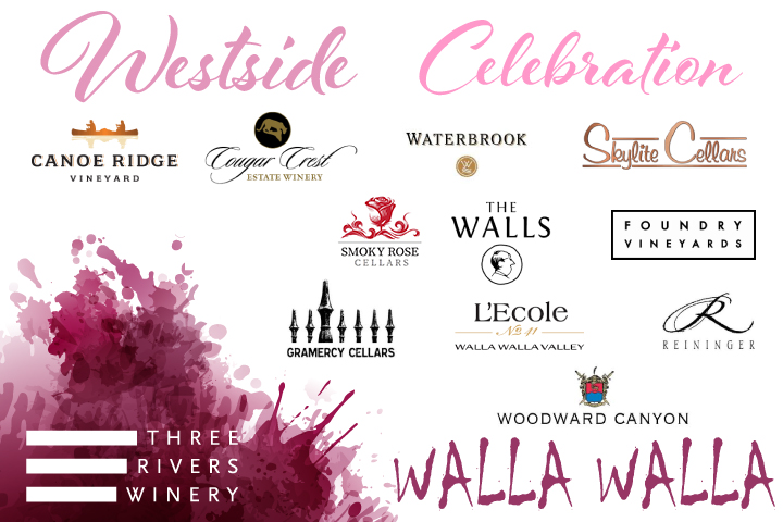 Westside Celebration Logo featuring all of the included wineries logos