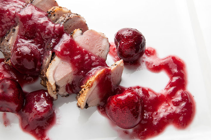 Smoked Duck Breasts with Cherry Compote