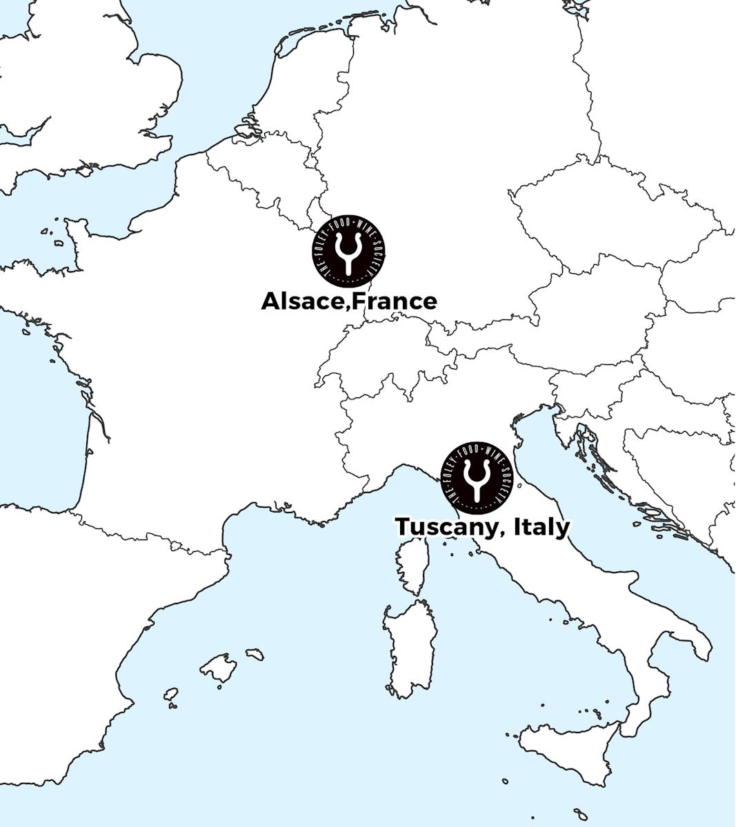 Map of FFWS locations in Europe