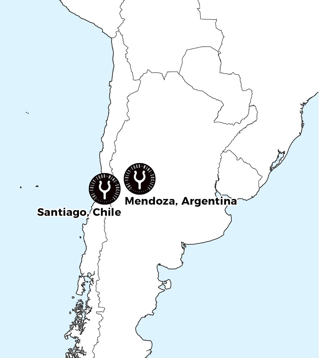 Map of FFWS locations in South America