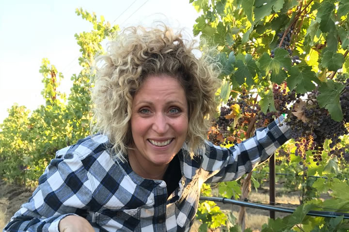 Holly Turner in Walla Walla Vineyard