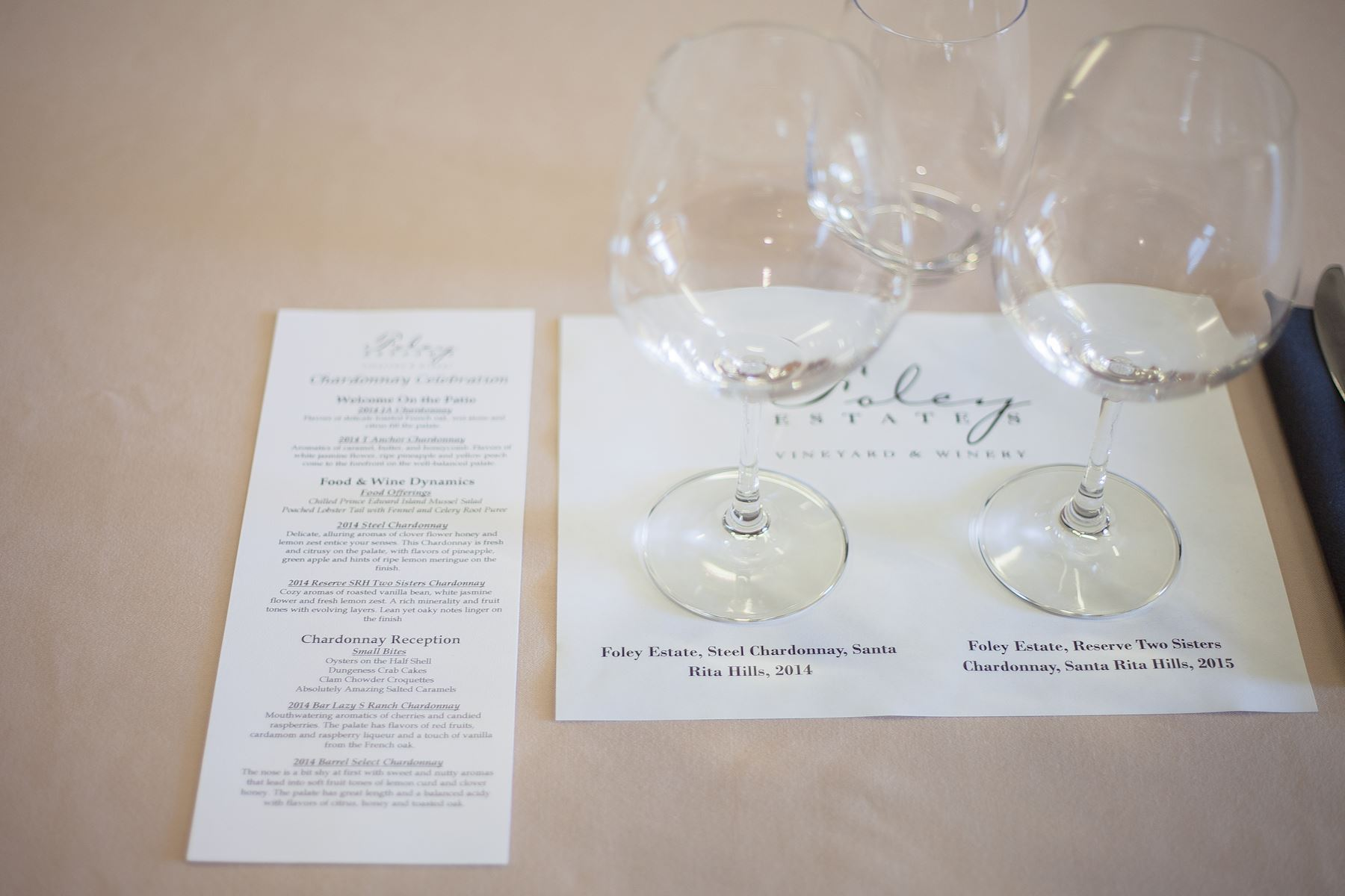 Foley Estate Chardonnay wine tasting