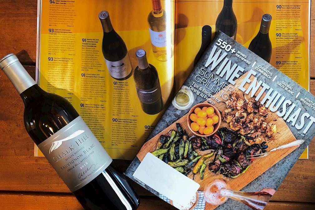 Chalk Hill Wine Displayed With Issue of Wine Enthusiast