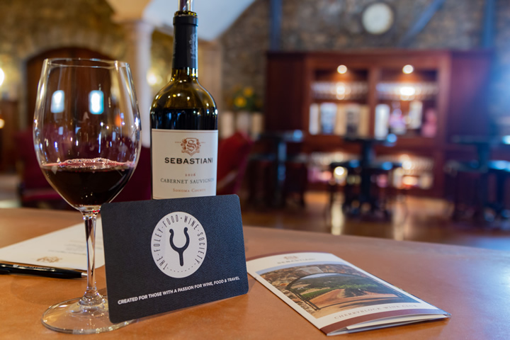 Sebastiani Sonoma County Cabernet Sauvignon in the Tasting Room