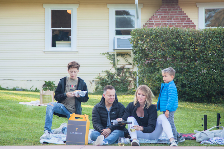 Family Picnicing With Linourt Wine