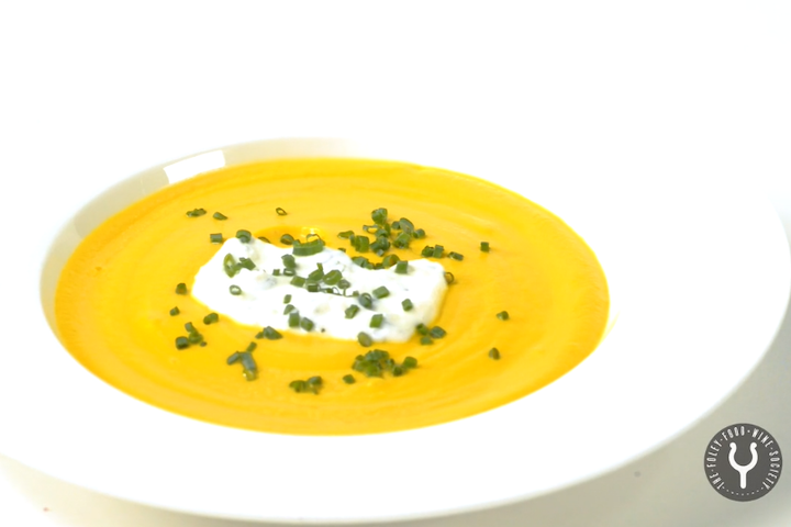 Heirloom Carrot Soup with Ginger Mint Yogurt