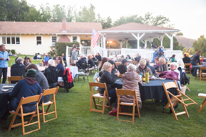 Attendees enjoying a wine event at Lincourt Vineyards in Solvang, CA