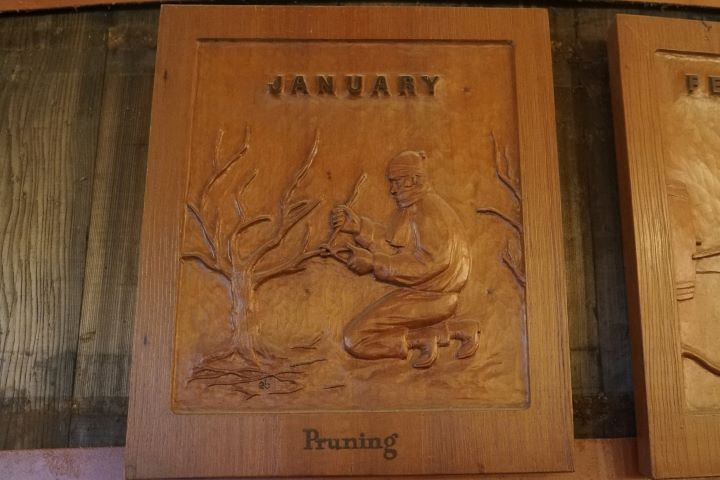 Wood Carving from Sebastiani Vintner's Calendar: January, Pruning