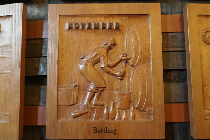 Wood Carving from Sebastiani Vintner's Calendar: November, Bottling