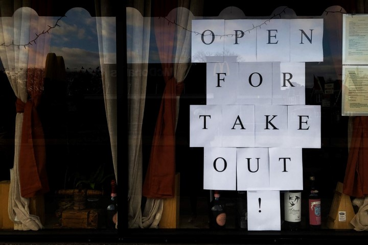Open For Takeout Sign