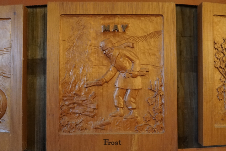 wooden Relief Depicting May Frost