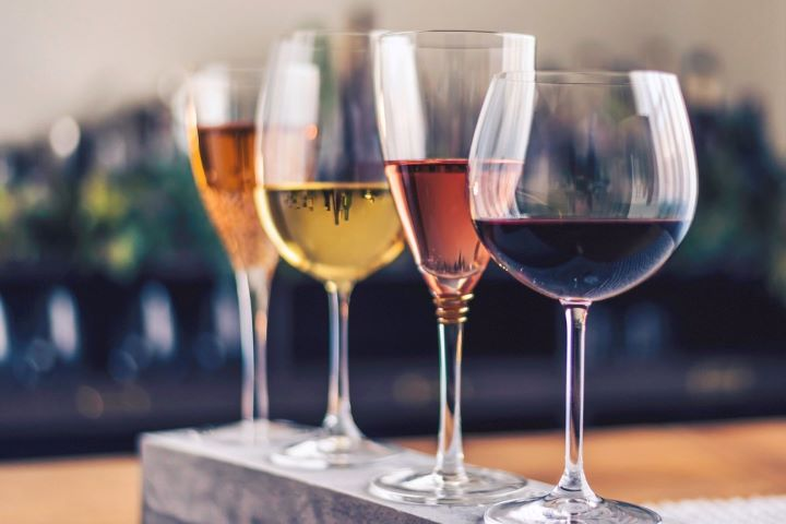 Four Types of Wine Glasses