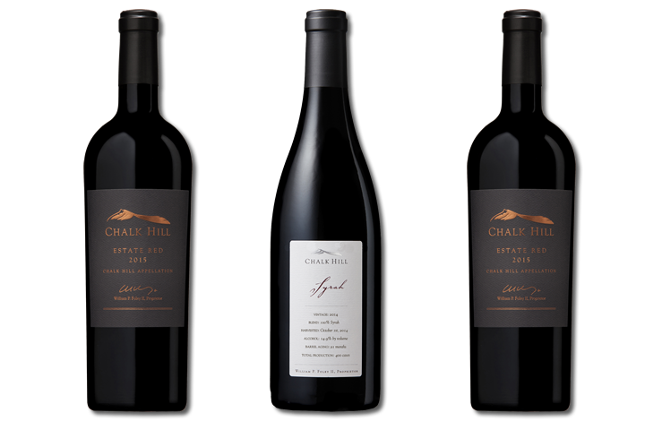3 Bottles of Chalk Hill Red Wine