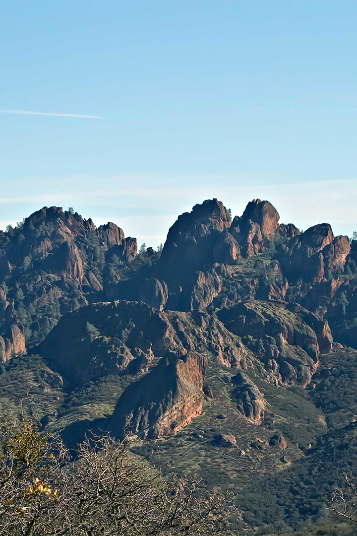 Craggy Peaks of The Chalone Mountains Outside Soledad, California