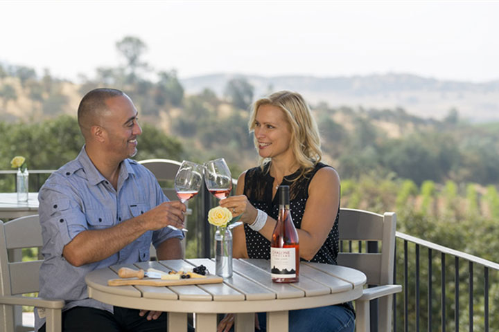 A Couple Enjoying Wine & Cheese at Chalone Vineyard
