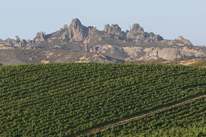 Pinnacles and the Gavilan Mountains