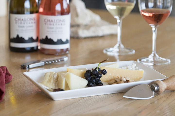 Cheese Platter with Chalone Wine