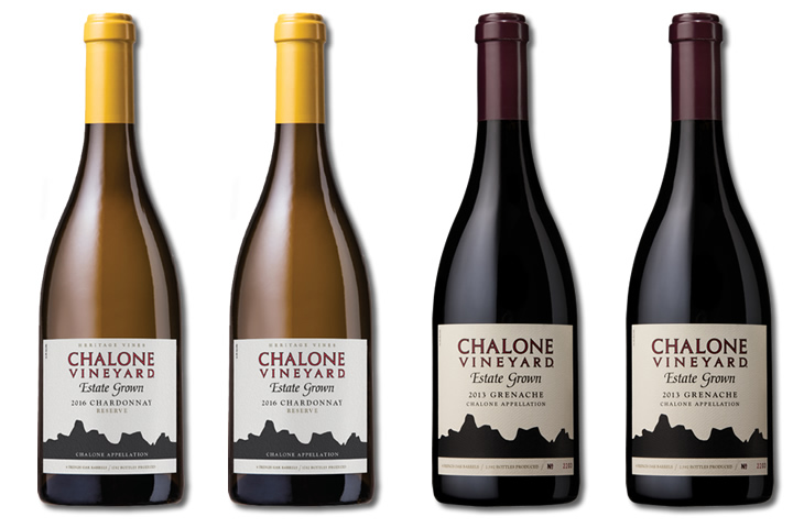 4 Bottles of Chalone Red and White Wines