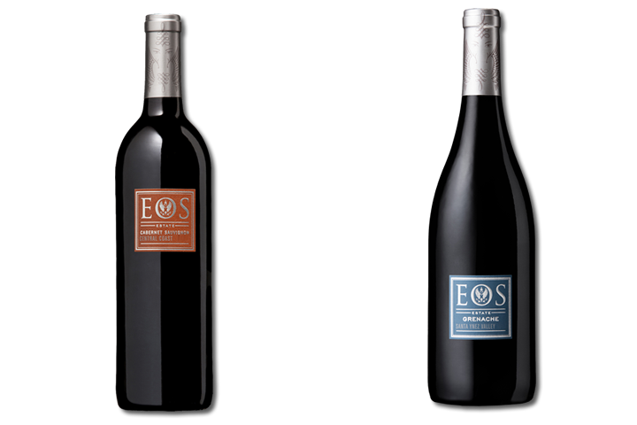 Two Bottles of Eos Red Wine