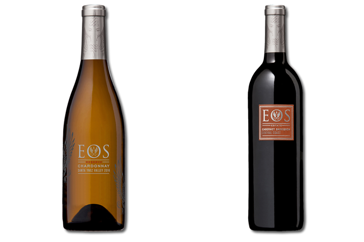 Two Bottles of Eos Wine