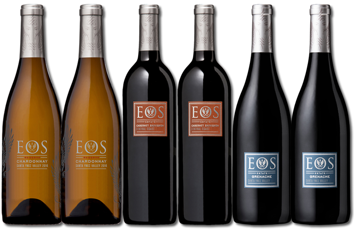 6 Bottles of Eos Red and White Wine