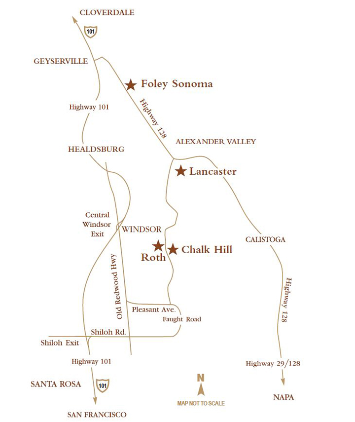 Sonoma County FFWS Winery Map