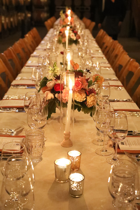 Long Table with many chairs and table settings