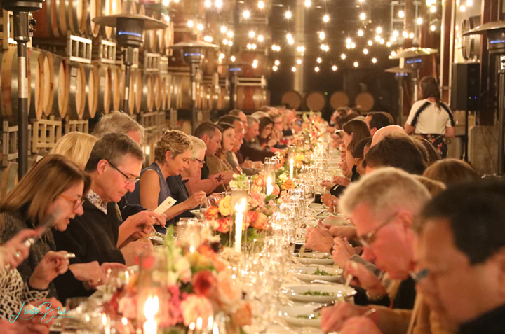 Guests with Salad at a Large Table