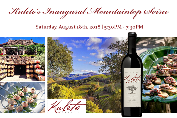 Kuleto Mountaintop Soiree - Saturday, August 18, 2018 from 5:30-7:30pm