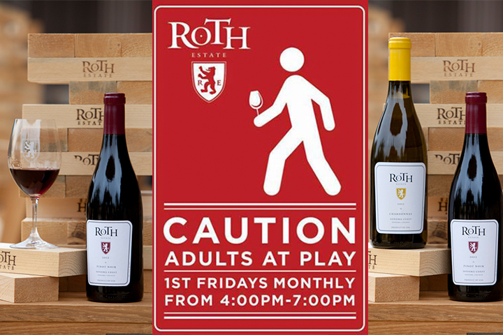 Caution - Adults at Play. First Fridays monthly, from 4 PM - 7 PM