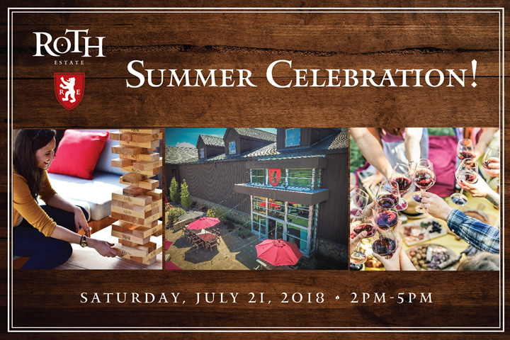 Summer Celebration at Roth Saturday, July 21 2018 from 2-5pm