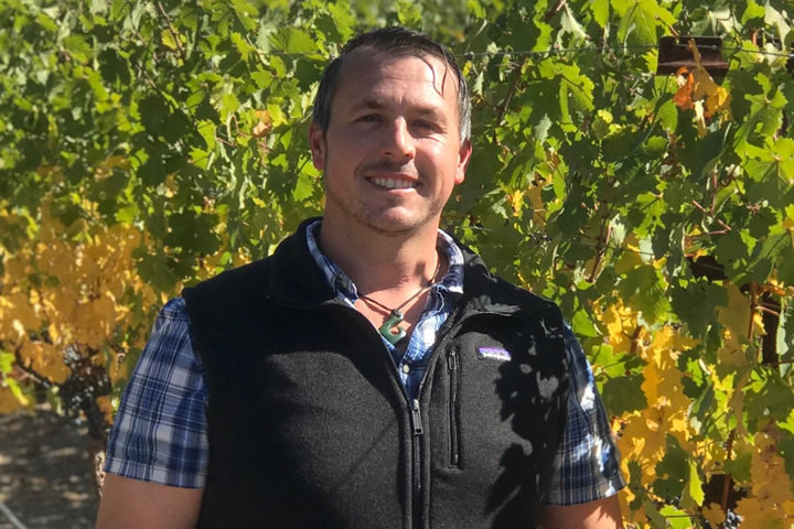 Dan Spratling in the Vineyards at Santa Ynez Valley