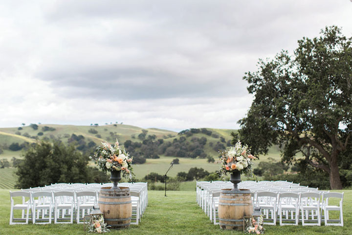 Firestone Vineyard's Vineyard Mesa Set for a Wedding