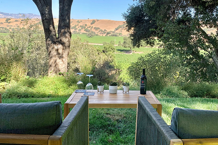 The view from the Firestone Vineyard Lower Terrace