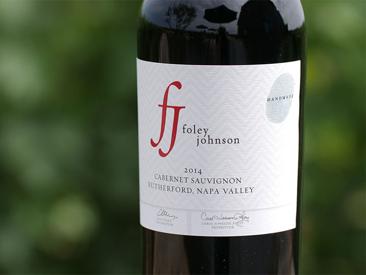 Close Up of Handmade Thumbprint Logo for Foley Johnson Handmade Series Wines