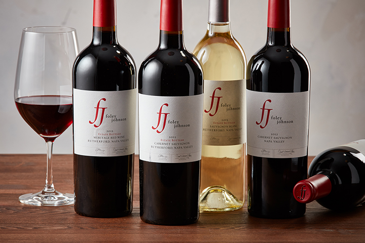 Five bottles of Foley Johnson Wine