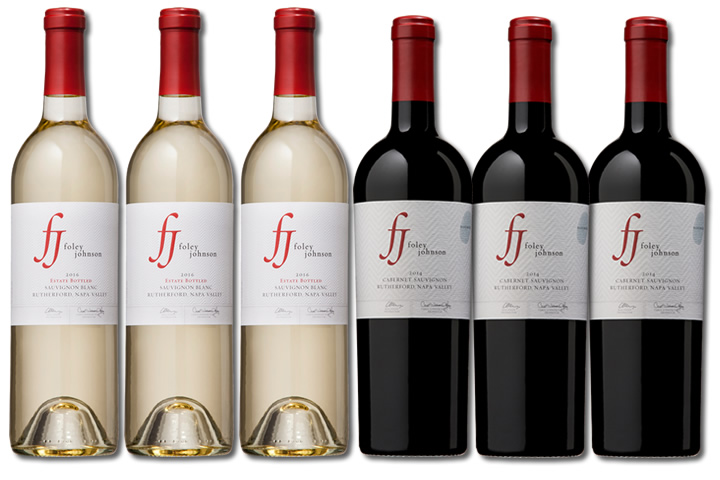 6 Bottles of Foley Johnson Red and White Wine