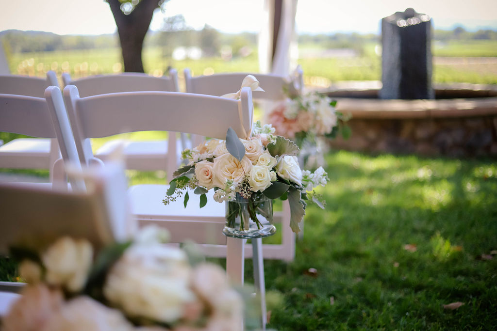 Beautiful Rose Bouquet at Foley Sonoma Outdoor Wedding