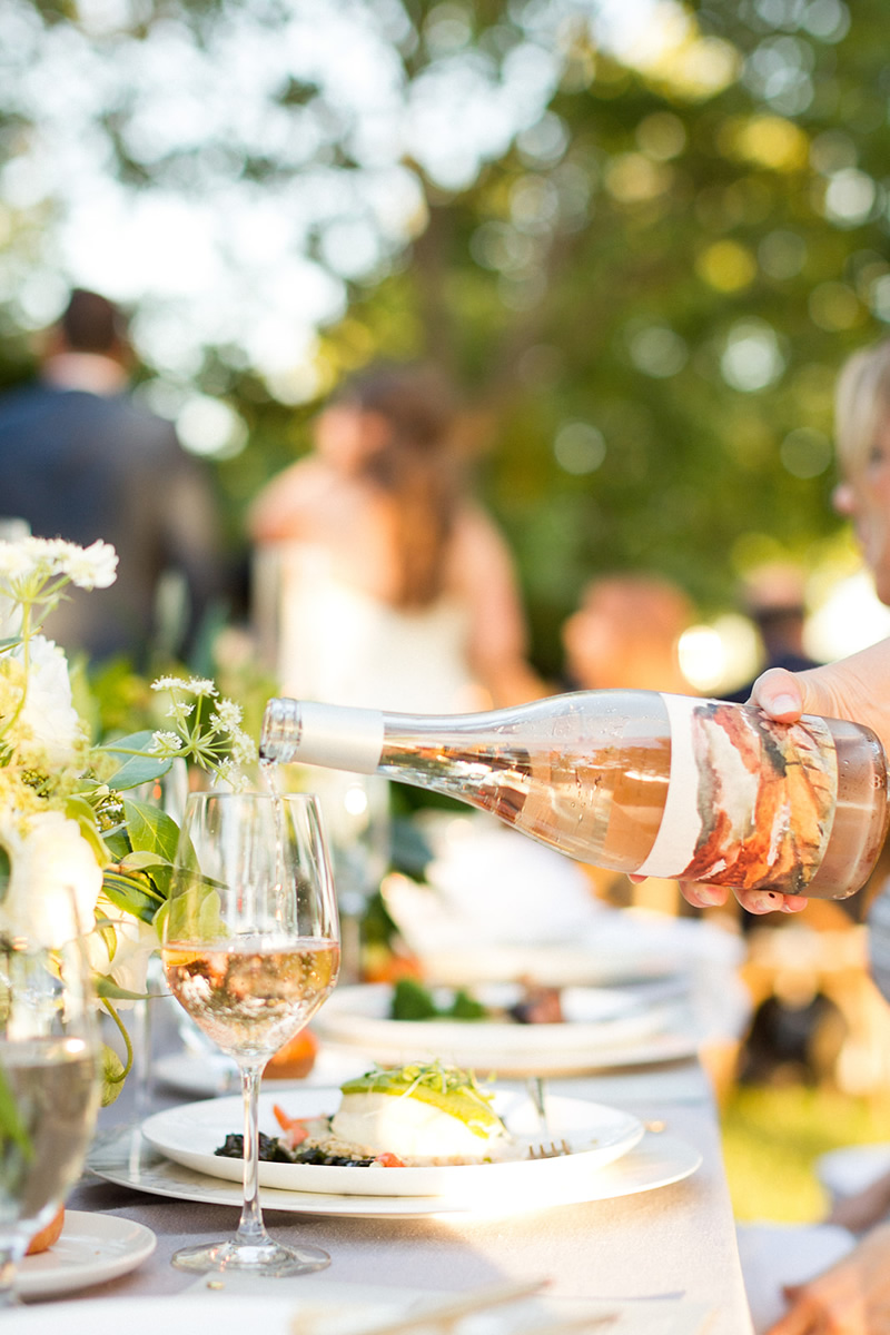 Foley Sonoma Rose Wine Paired with Wedding Fare