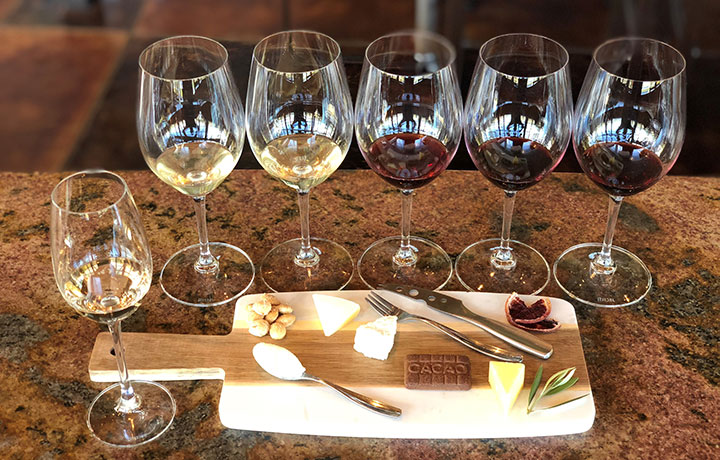 The Foley Sonoma Artisinal Cheese Plate and Tasting Flight