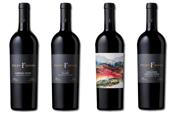 Four Bottles of Foley Sonoma Red Wines