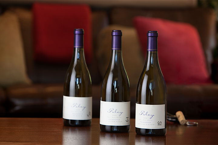 3 Bottles of Foley Wines Arranged on a Table