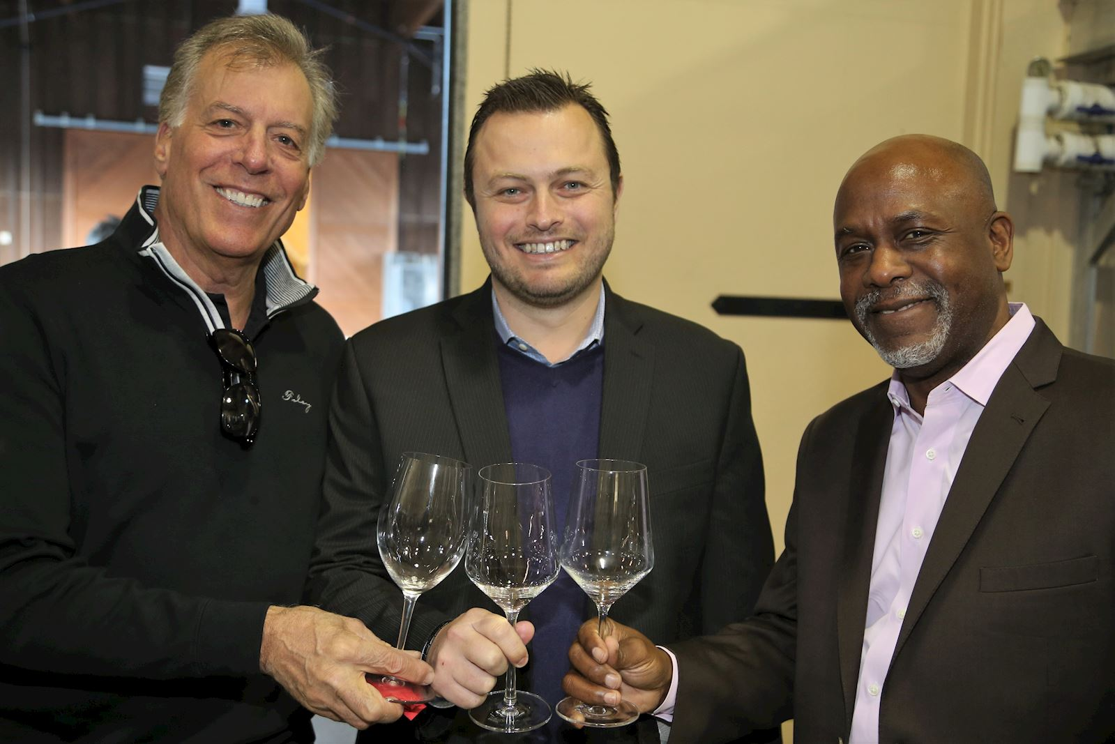Bruce Cousins, COO of Foley Family Wines, with two Foley Family Sales Reps