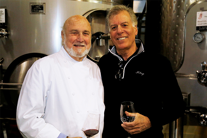 Bruce Cousins, COO of Foley Family Wines, with Executive Chef Larry Forgione.