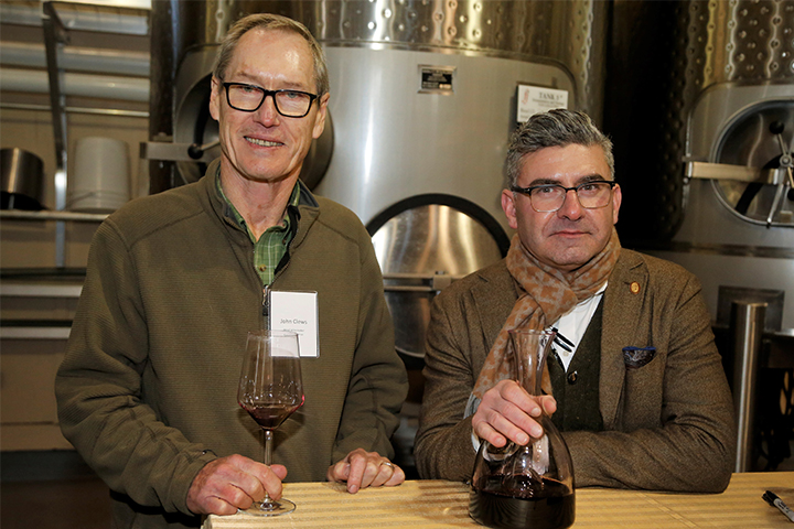 Winemaker John Clews with Master Sommelier Robert Smith