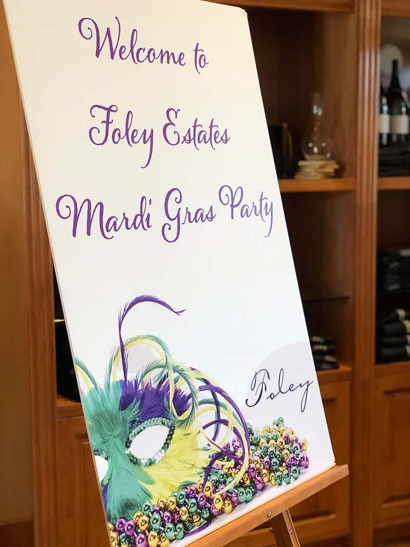 Welcome to Foley Estates Mardi Gras Party