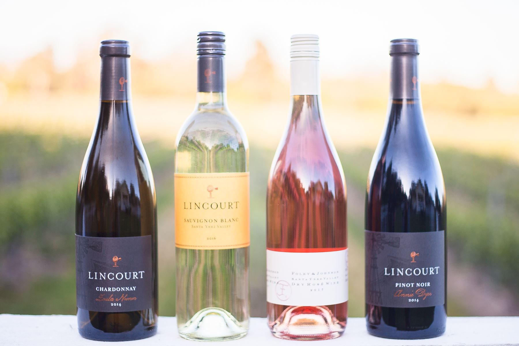 Lineup of Lincourt wines ready to be enjoyed
