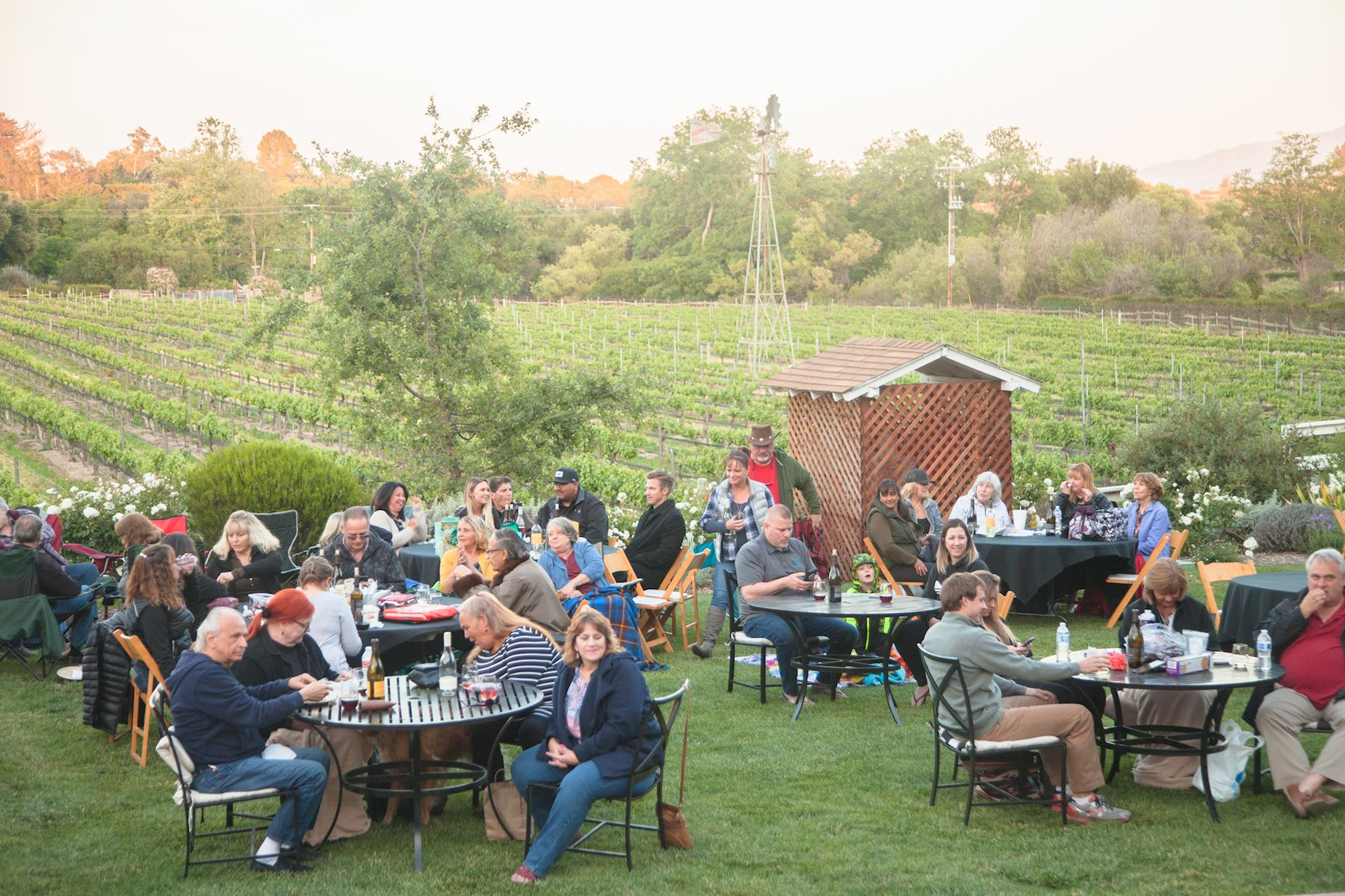 Event attendees enjoying the evening