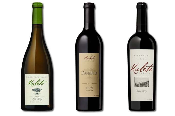 3 Bottles of Kuleto WInes