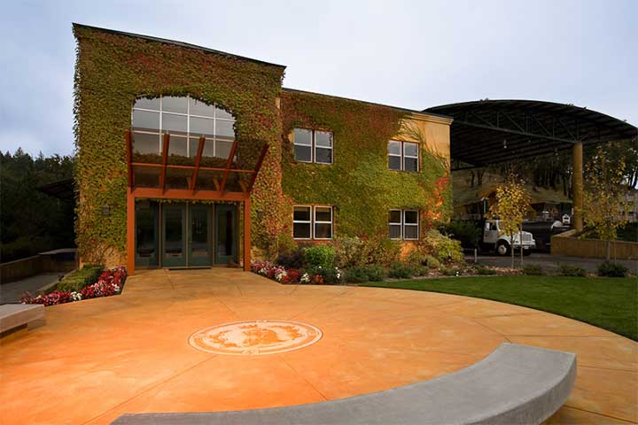 The Ivy Covered Front of the Lancaster Winery